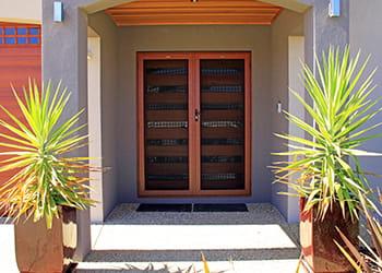 Stainless steel mesh security screen doors