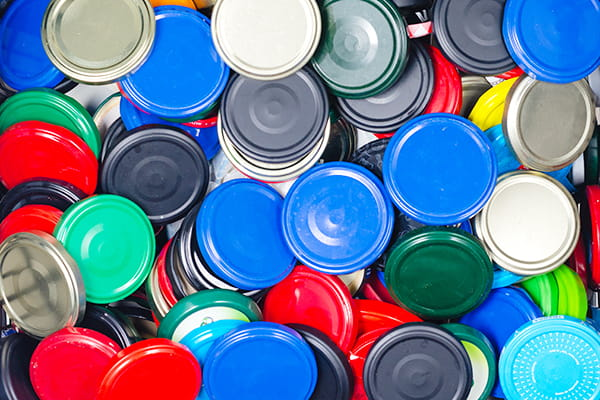 What to do with your metal container lids