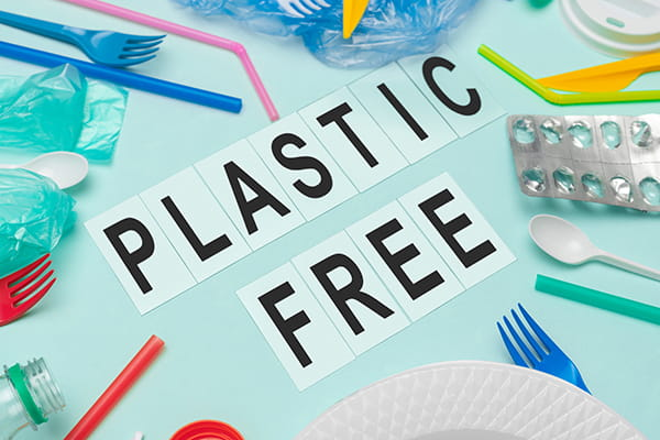 Plastic free sign