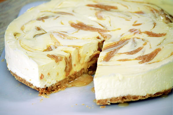 Decadent and delicious Caramel Swirl Cheesecake
