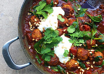 Moroccan lamb meatball tagine