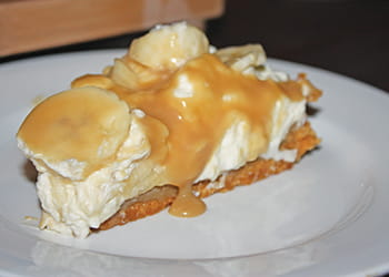 Banoffee Pie Slice on a plate