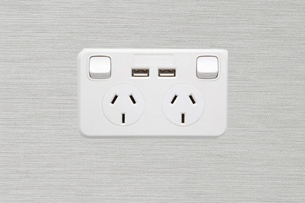 Install power points with an inbuilt USB charger and keep your devices fully charged