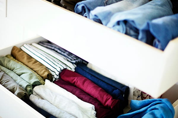A new way to organise your T–shirts – it's brilliant!