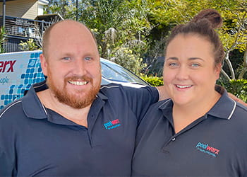 Cory and Karlee from Poolwerx Victoria Park - Pool Cleaning, Pumps & Supplies
