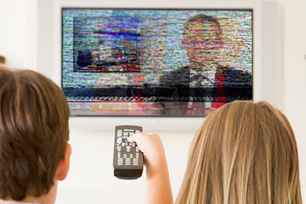 What causes poor TV reception?