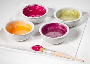 4 pots of edible paint