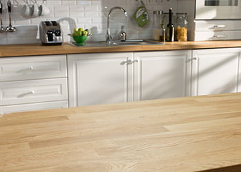 Timber kitchen counter