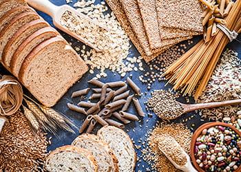 high fibre foods grains bread