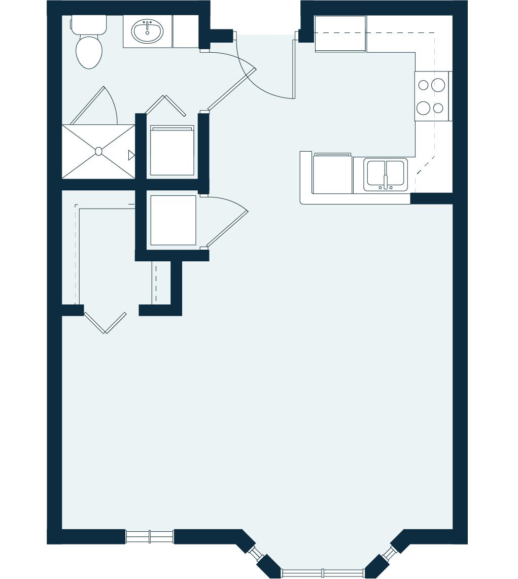 azalea studio floor plan