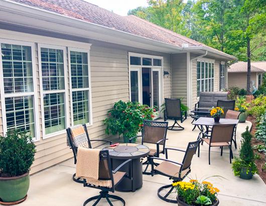 spring harbor villa outdoor patio seating