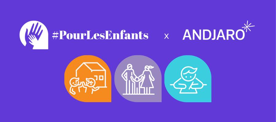 Le collectif #PourLesEnfants s'appuie sur Andjaro pour favoriser le retour à l'école