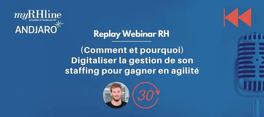 Replay webinar : (comment et pourquoi) digitaliser la gestion de son staffing