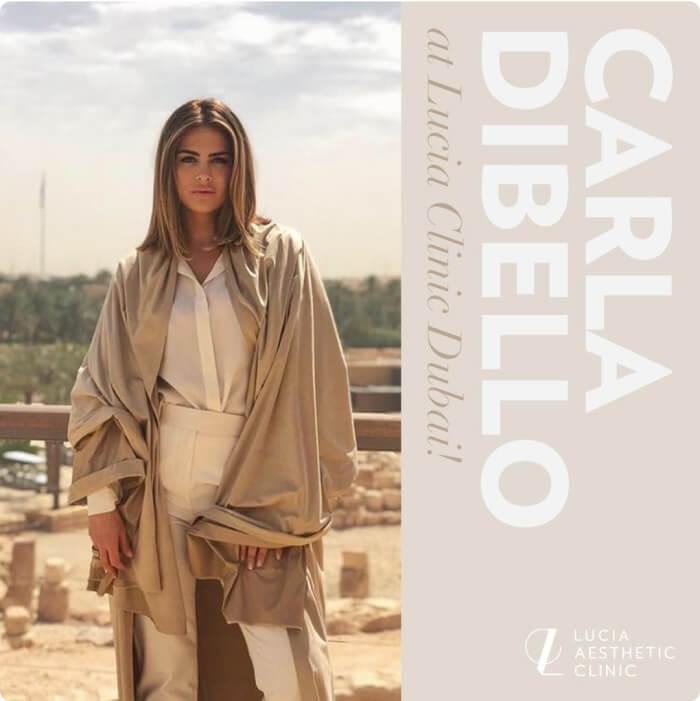 Carla Dibello at Lucia Clinic Dubai!