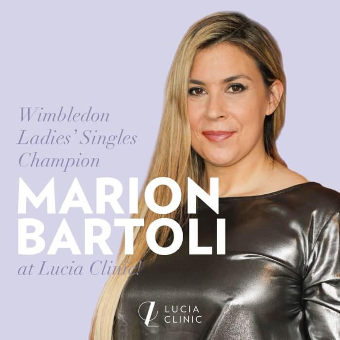Wimbledon Ladies' Singles Champion Marion Bartoli at Lucia Clinic!