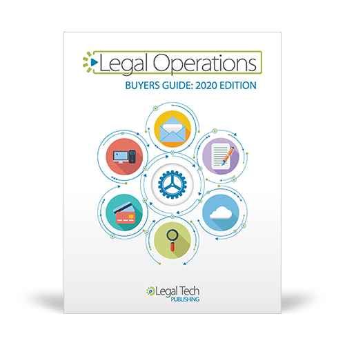 Graphic of the pdf named Legal Ops Buyers Guide 2020