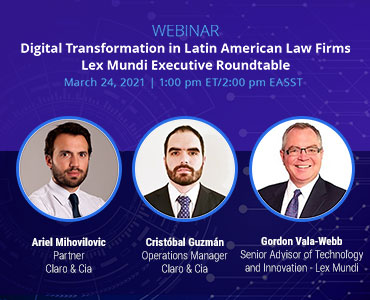 Webinar event on March 24th, 2021 and hosted by Ariel Mihovilovic, Cristobal Guzman, and Gordon Vala-Webb