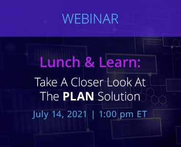 Graphic for webinar event discussing the Plan Solution from NetDocuments.