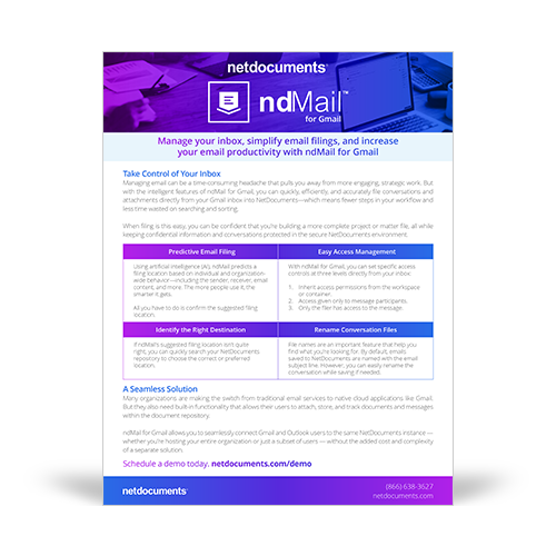 Graphic for NdMail for Gmail integration announcement.