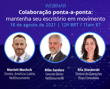 Graphic for webinar event hosted by NetDocuments Latin American team