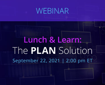 Graphic for webinar event hosted by NetDocuments discussing the Plan Solution offered by NetDocuments.