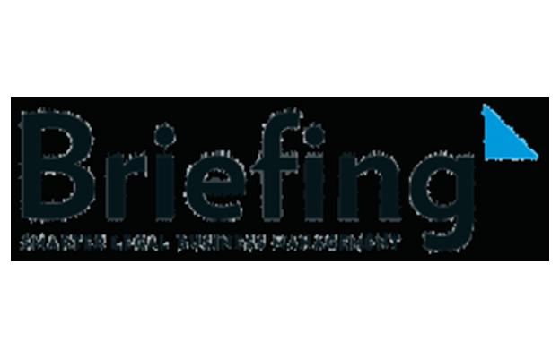 Logotipo da empresa de briefing