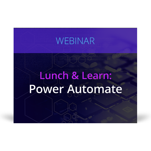 Graphic for webinar event hosted by NetDocuments discussing NetDocuments' Power Automate.