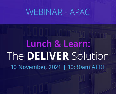 Graphic for webinar event hosted by NetDocuments discussing the DELIVER solution