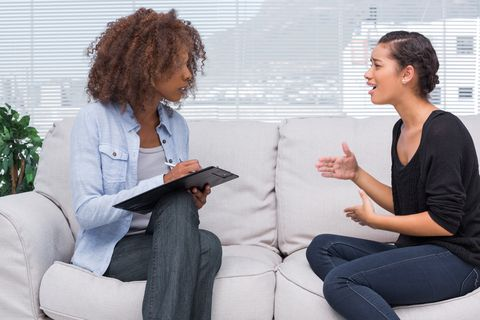 A Board certified Behavioral Analyst talking with a worried mother