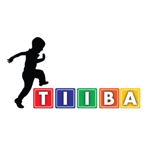 The Indiana Institute for Behavior Analysis (TIIBA) logo. Boy climbing blocks that spell out TIIBA. Each block is a different color. TIIBA specializes in Applied Behavioral analysis therapy for children affected by autism.
