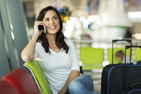 Women Traveller On Phone