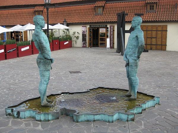 Statue Outside Kafka Museum