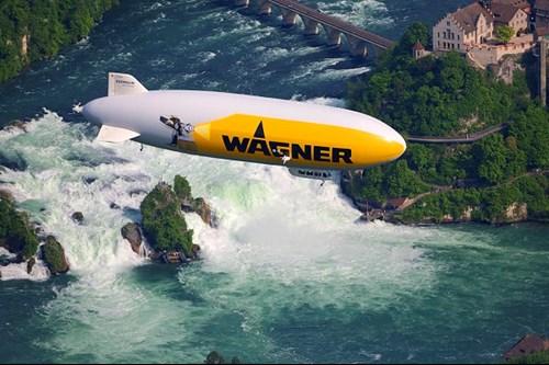 Zeppelin Over Rhine Falls