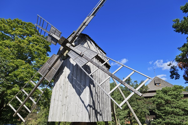 Windmill In Skansen Stockholm