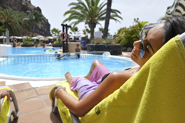 Lying By The Pool At Tecina