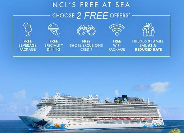 Norwegian Cruise Line Free At Sea