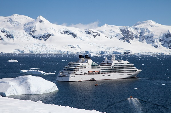 Seabourn Ship In Antarctica