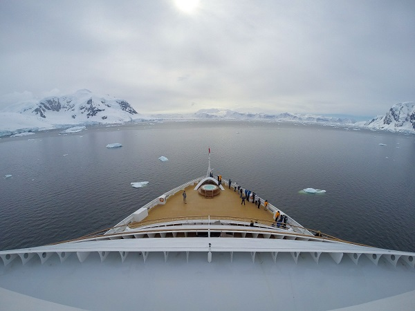 View Of Antarctica From Seabourn Ship Bow