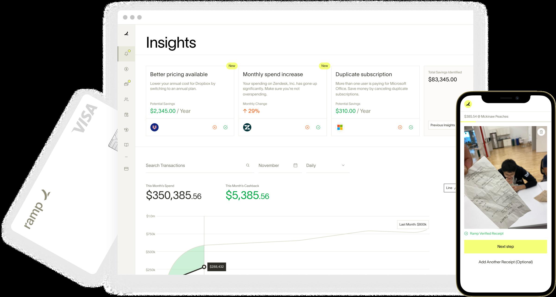 Ramp spend management platform