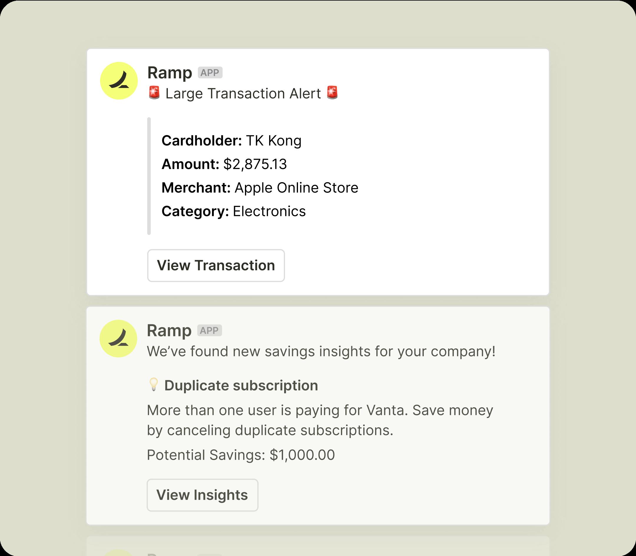 Ramp Notifications