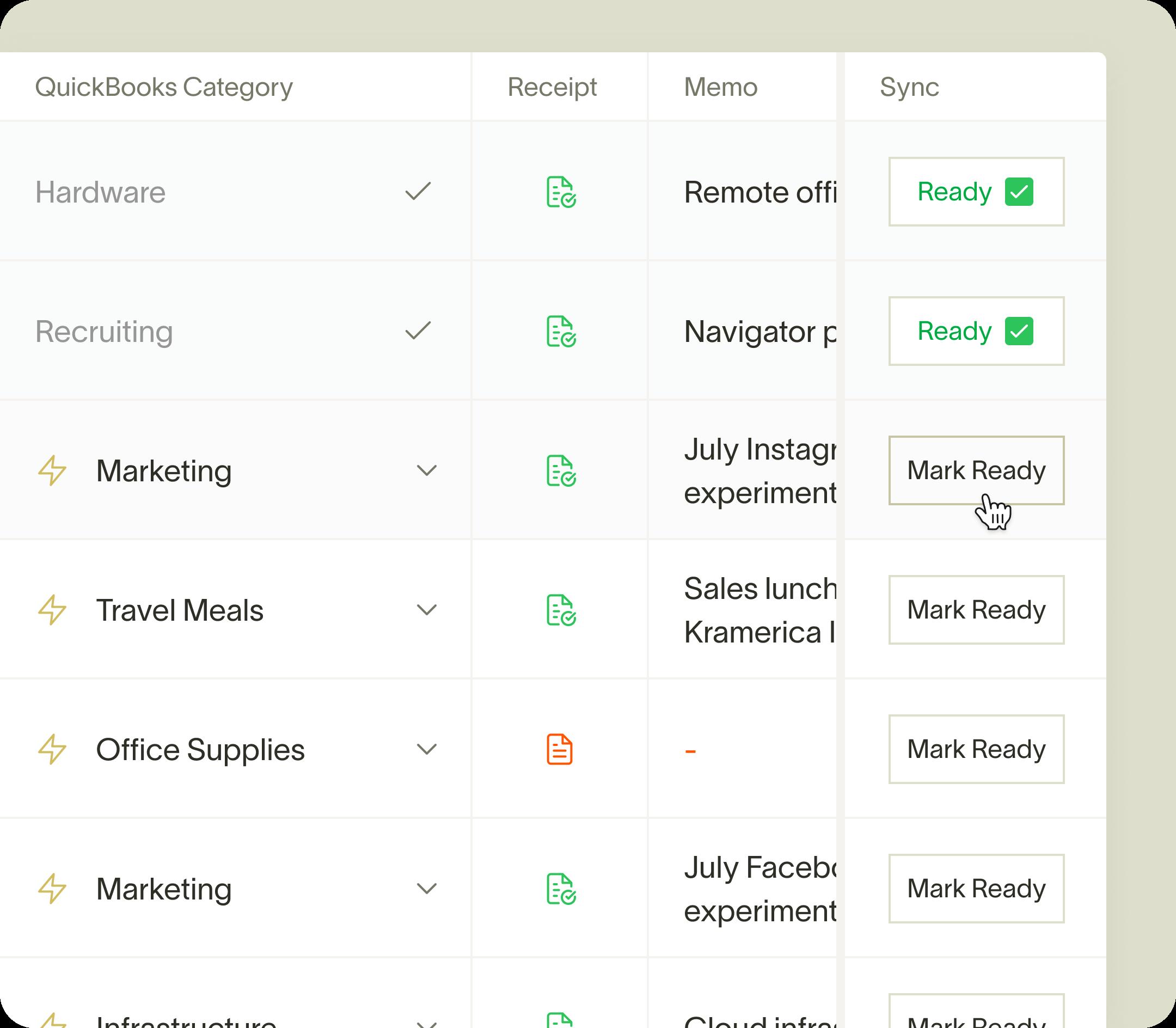 Ramp Quickbooks Integration
