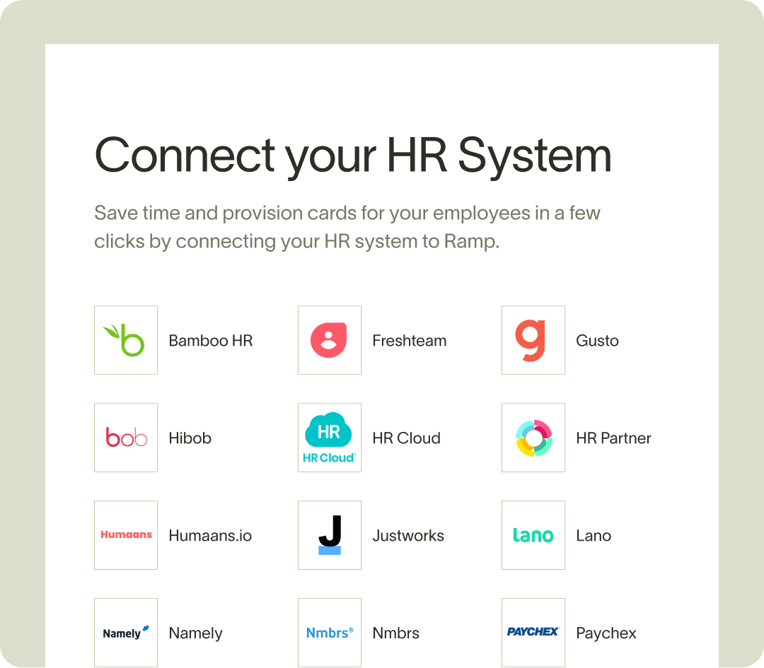Ramp connect your hr system
