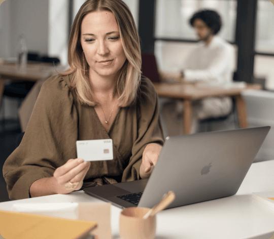 Woman looking at ramp card