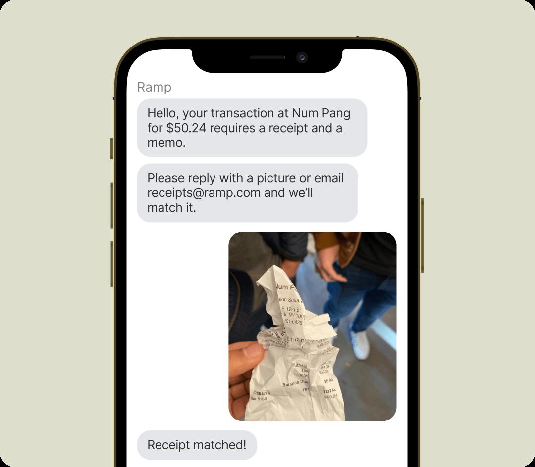 Ramp's texting integration on phone