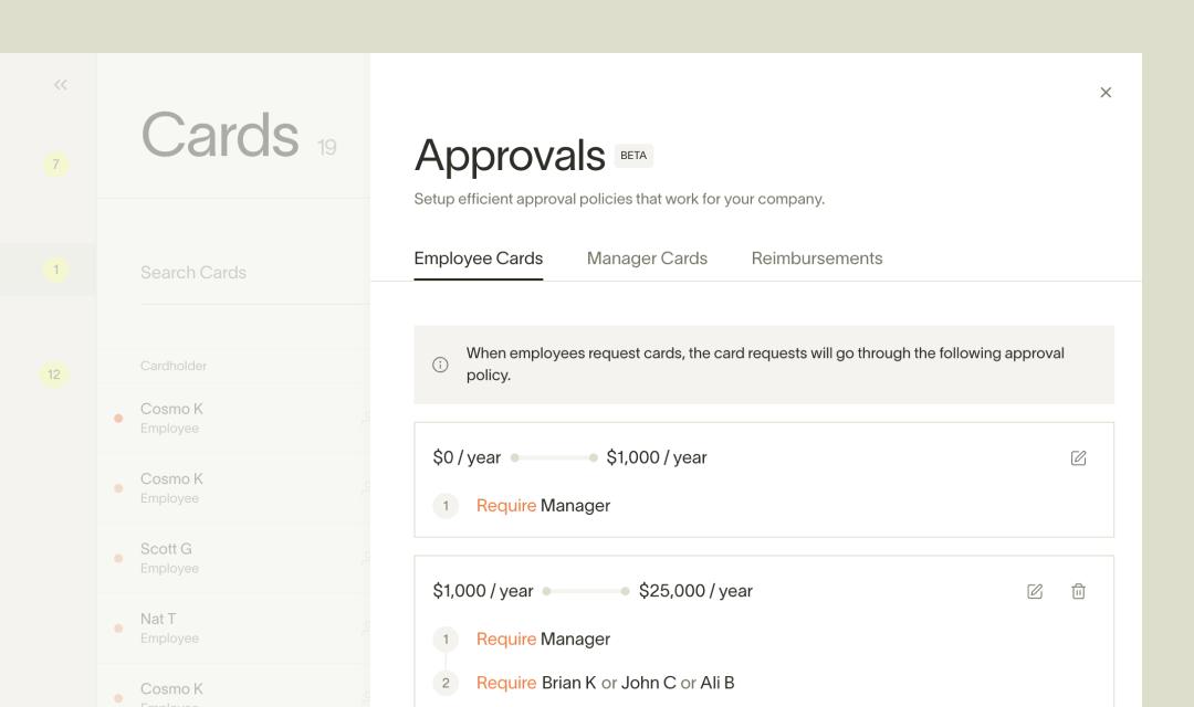 Ramp's multi-step approval screen