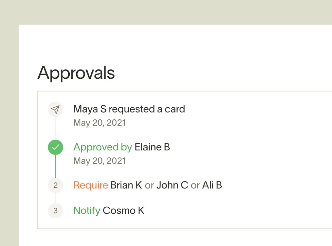 Ramp multi-step approval flow