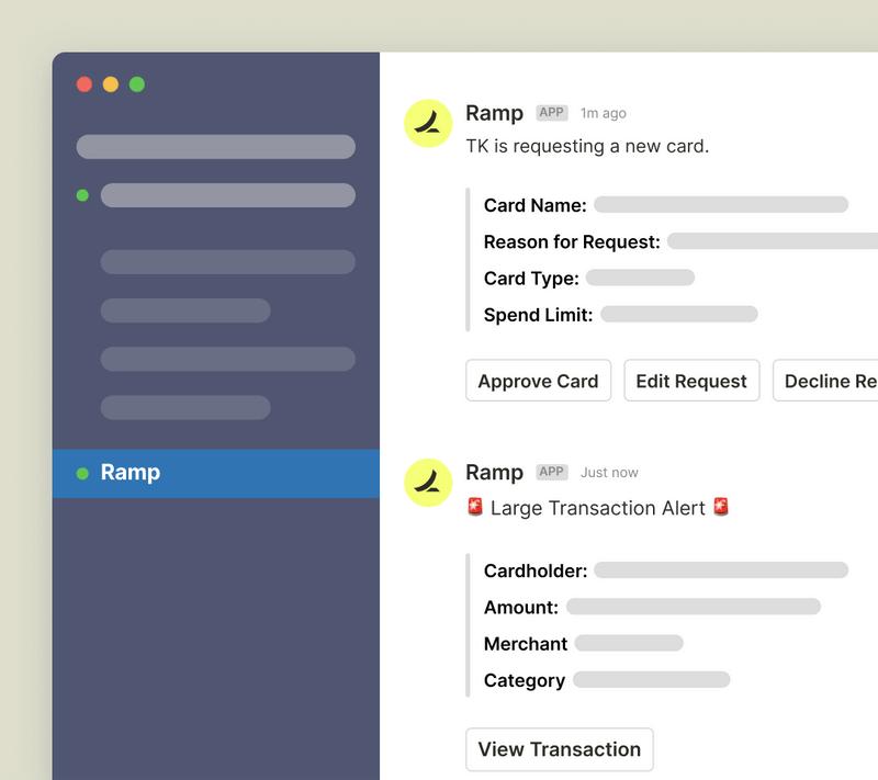 Ramp Slack integration