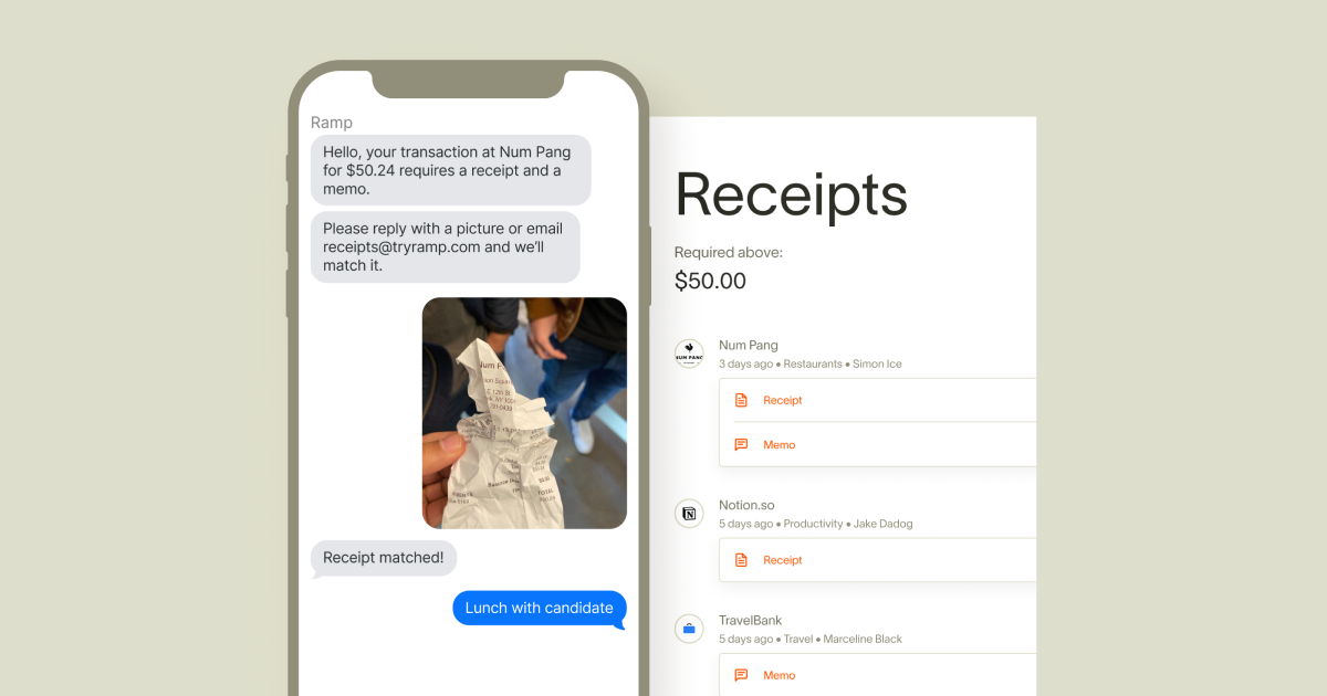 Ramp's receipt automation