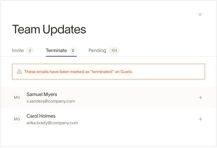 Ramp HRIS terminated users