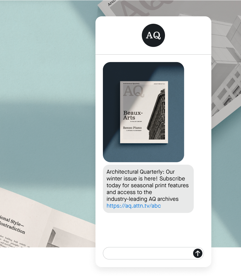Architectural Quarterly subscribe text message